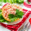 Крабовый салат в грейпфруте – вот это подача!